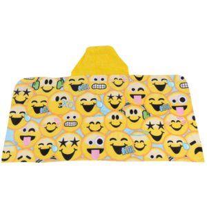 EmojiNation Hooded Towel Wrap Emoji Print 24 x 50
